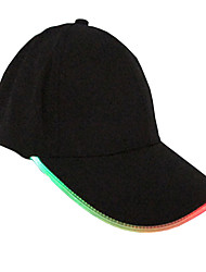 1PCS Unisex Caps Fashion LED Lighted Glow Club Party Black Fabric Travel Hat Baseball Cap Hip-Hop Adjustable Fabric Hat Glow Cap
