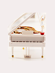 cheap -Music Box Piano Creative Rotating Adults Kids Gift Women's Girls'
