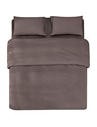 cheap -Duvet Cover Sets Solid 4 Piece Linen/Cotton Blend Linen/Cotton Blend 4pcs (1 Duvet Cover, 1 Flat Sheet, 2 Shams)