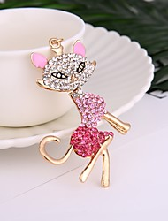 cheap -Fashion Hot Selling Alloy Diamond-Encrusted Fox Dey Chain Lady's Handbag Hang The Accessories