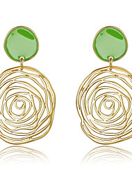 cheap -Drop Earrings Women's Fashion Gold Hollow Out Rose Style Earrings For Office & Career Party Daily Movie Jewelry
