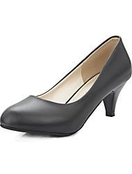 Damen High Heels Komfort formale Schuhe Kunstleder Frühling Herbst Hochzeit Party & Festivität Walking Konischer Absatz Schwarz Beige Rosa