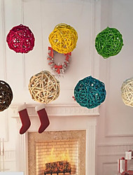cheap -20Pcs/Pack 3Cm Birthday Party Decor Wedding Decoration Rattan Ball  Decor Home Ornament Home Decoration