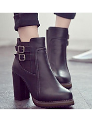Women's Boots Comfort Fashion Boots Fall Winter Real Leather PU Casual Black Brown Flat