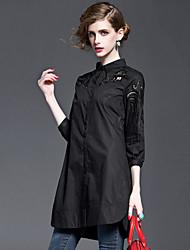 cheap -Women's Shirt - Embroidery Shirt Collar