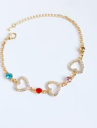 abordables -Femme Fille Chouette Chaînes & Bracelets Bracelets de tennis - Pierre Irrégulier Or Argent Bracelet Pour Anniversaire Cadeau
