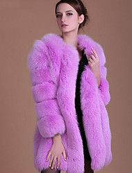 cheap -Women's Simple Casual Plus Size Faux Fur Fur Coat-Solid Colored