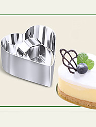 cheap -Diy Baking Tools Hot Fashion Cake Mold Stainless Steel Mousse Ring With Push Piece Tiramisu Cutter Home Garden Kitchen Tools