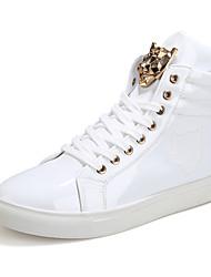 baratos -Homens sapatos Materiais Customizados Verão / Outono Conforto Tênis Caminhada Branco / Preto / Vermelho