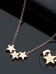 Titanium Korean fashion ladies Necklace rose gold star prize on the Korean pop small jewelry gifts