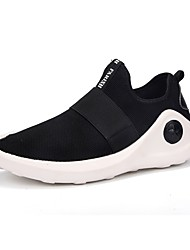 cheap -Men's Athletic Shoes Track & Field Comfort Light Soles Breathable Mesh PU Tulle Fall Winter Athletic Outdoor Flat Heel Black Flat