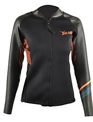 cheap -YON SUB Women's 2mm Wetsuit Top Wetsuit Jacket Sunscreen Sports Tactel Neoprene LYCRA® Diving Suit Long Sleeves Top-Surfing Snorkeling