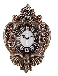 Moderne/Contemporain Traditionnel Rustique Décontracté Rétro Animaux Horloge murale,Eléphant Horloge Animal Résine Intérieur Horloge