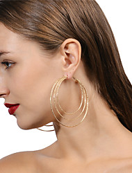 cheap -Women's Oversized / Multi Layer - Metallic / Personalized / Oversized Gold / Silver Geometric Earrings For Evening Party / Stage / Club
