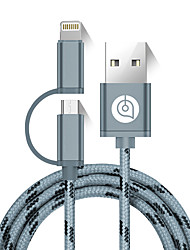 cheap -AIMEISHENG L51 USB 2.0 Connect Cable USB 2.0 to Micro USB 2.0 Lightning Connect Cable Male - Male 1.5m(5Ft)
