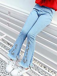 Mädchen Jeans Bestickt Kunstseide Frühling Herbst