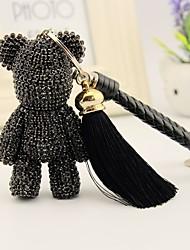 economico -Sacchetto / telefono / keychain fascino stile del poliestere del giocattolo del fumetto della nappa di stile del rhinestone dell'orso