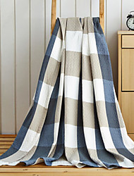 Недорогие -Фланель Клетки Смешанная хлопковая ткань одеяла