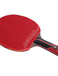 cheap -6 Stars Ping Pang/Table Tennis Rackets Ping Pang Carbon Fiber Long Handle Pimples 1 Racket 1 Table Tennis Bag