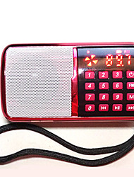 abordables -SP240 FM Radio portable Lecteur MP3 Carte TFWorld ReceiverRouge