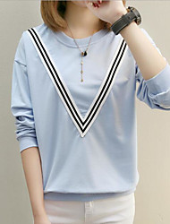 Women's Going out Sweatshirt Letter Round Neck Micro-elastic Others Long Sleeve Spring Fall