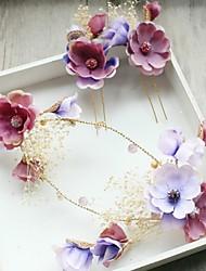 cheap -Tulle Rhinestone Fabric Silk Net Alloy Flowers Hair Clip Hair Claws Headpiece