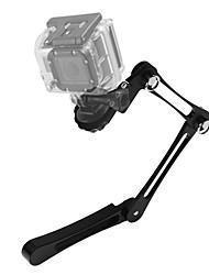 Asj gopro kahraman kamera aksesuarları alüminyum alaşımlı kat el selfie stick