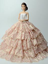 preiswerte -Kleider Kleider Für Barbie-Puppe Kleid Für Mädchen Puppe Spielzeug