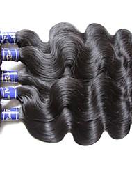Недорогие -Пряди натуральных волос Реми Высокое качество 1 год 1.0 Повседневные Классика Волнистый
