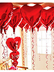 cheap -10pcs - 10inch Red Heart Shaped Balloons Beter Gifts® DIY Party Decoration