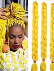 cheap -Box Braids 100% Kanekalon Hair Jumbo Hair Braid 3