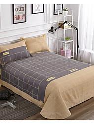Plaid/Checkered Poly/Cotton Flat Sheet