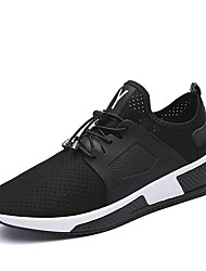 cheap -Men's Athletic Shoes Comfort Light Soles Fall Winter Breathable Mesh PU Running Shoes Athletic Casual Outdoor Lace-up Flat Heel Screen
