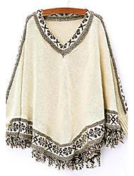 preiswerte -Damen Standard Mantel / Capes-Ausgehen Lässig/Alltäglich Arbeit Einfach Niedlich Punk & Gothic Verziert Sweetheart Langarm Baumwolle