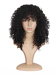 cheap -Top Selling Medium Long Afro Kinky Curly Black Synthetic Hair Wig for Black Women Wig