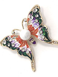 cheap -Women's Brooches Rhinestone Animal Design Alloy Butterfly Animal Gold Jewelry For Party Daily Casual Evening Party Office & Career