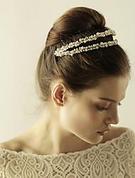 abordables -imitación perla rhinestone tiaras diademas casco estilo elegante