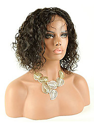 abordables -Mujer Pelucas de Cabello Natural Cabello humano Encaje Frontal Frontal sin Pegamento 130% Densidad Ondulado Ondulado Grande Peluca Negro