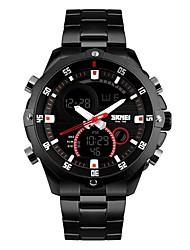 Недорогие -Муж. Спортивные часы Модные часы Наручные часы Японский Кварцевый Будильник Календарь Секундомер Защита от влаги С двумя часовыми поясами