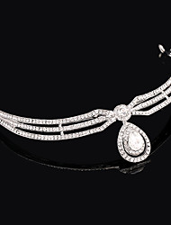 Imitation Pearl Rhinestone Alloy Tiaras Headbands Head Chain Headpiece