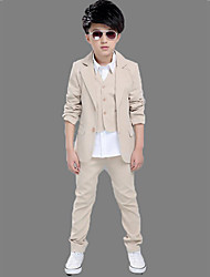 Boys' Solid Sets,Polyester Spring Fall Long Sleeve Clothing Set