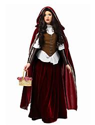 Reine Conte de Fée Cosplay Costumes de Cosplay Bal Masqué Féminin Halloween Carnaval Fête / Célébration Déguisement d'Halloween Rouge