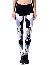 preiswerte -Yoga-Hose Strumpfhosen/Lange Radhose Unten Dehnbar Normal Dehnbar Sportbekleidung Damen BARBOK Yoga Rennen Pilates Tanzen