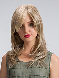 Perfect  Comfortable  Oblique Fringe Long Hair Synthetic Wigs
