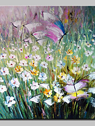 Large Size Hand Painted Flowers And Butterflies Oil Painting On Canvas Wall Art Picture For Home Decor No Frame