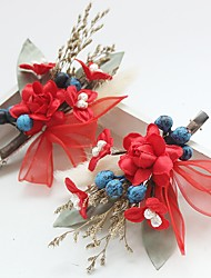 cheap -Chiffon / Lace / Fabric Flowers / Hair Clip with 1 Wedding / Special Occasion / Birthday Headpiece