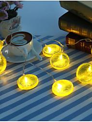 1 Meter 10 Light  Fruit Decoration Lamp/Battery Lamp Flash/Lemon Battery Christmas LED Lamp String