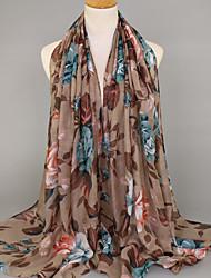 Women's Voile Fashion Garden Style Floral Scarf  180*90CM