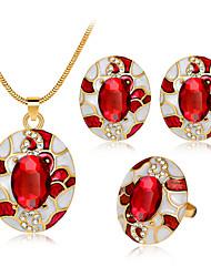 preiswerte -Damen Tropfen-Ohrringe Ring Halskette Aleación Oval Personalisiert Modisch Simple Style Hochzeit Party Geburtstag Verlobung Geschenk