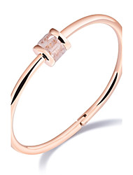 The new ring diamond ring bracelet titanium steel plated rose gold clasp design opening and contracted female